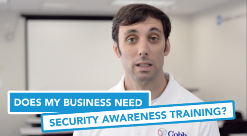 Title card Does My Business Need Security Awareness Training
