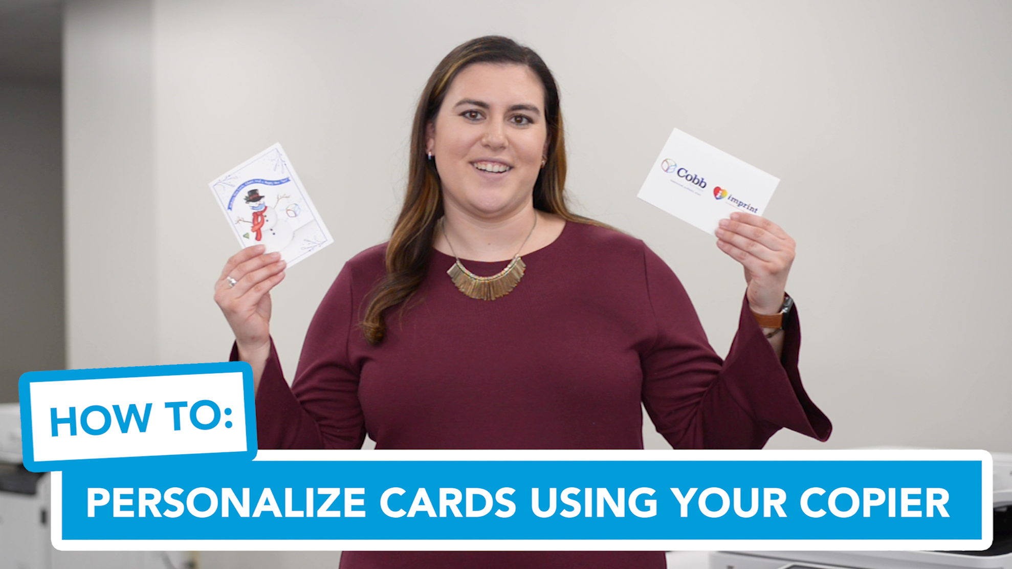 How to Personalize Cards Using Your Copier
