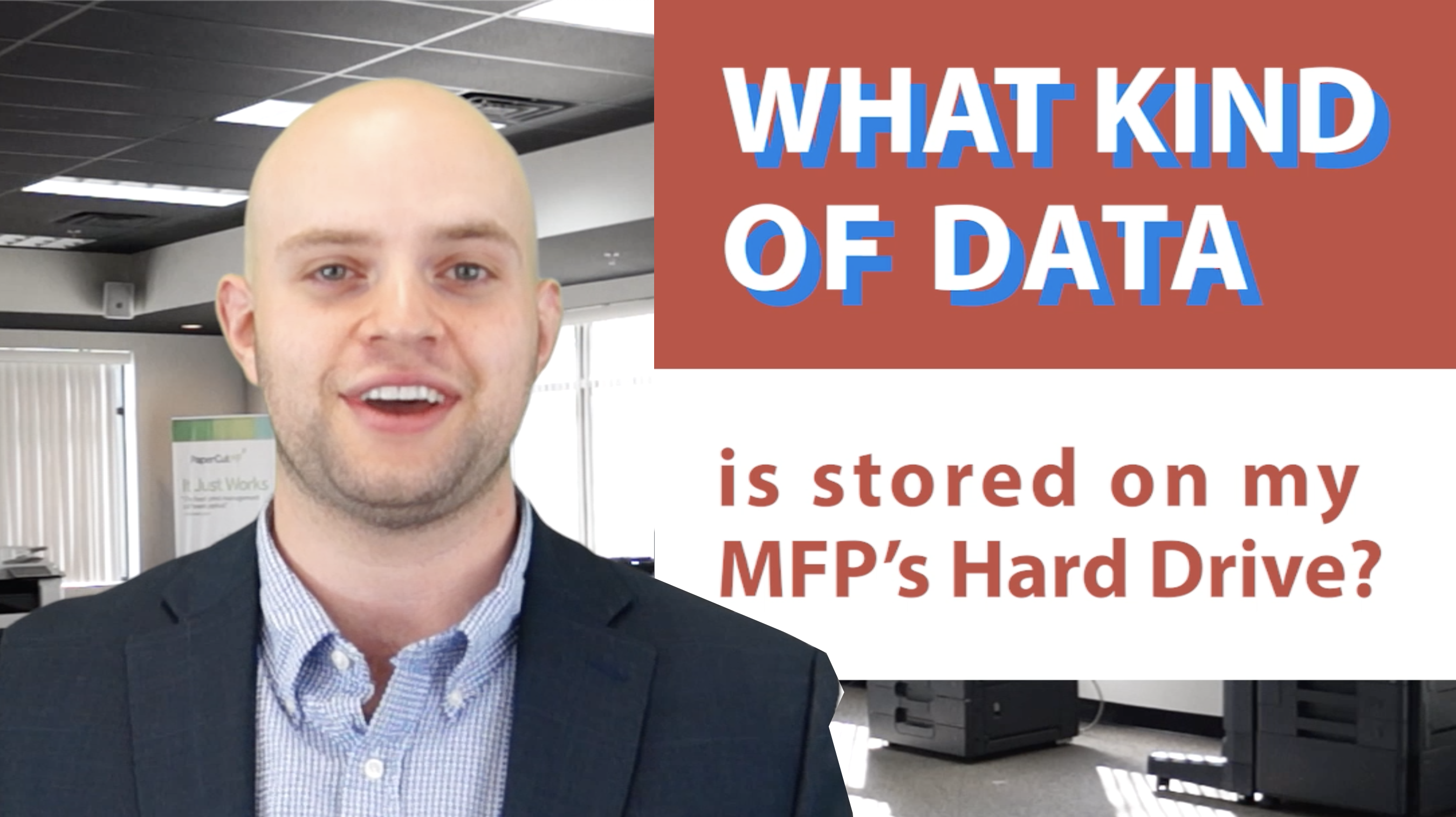 What kind of data is stored on my MFPs hard drive?