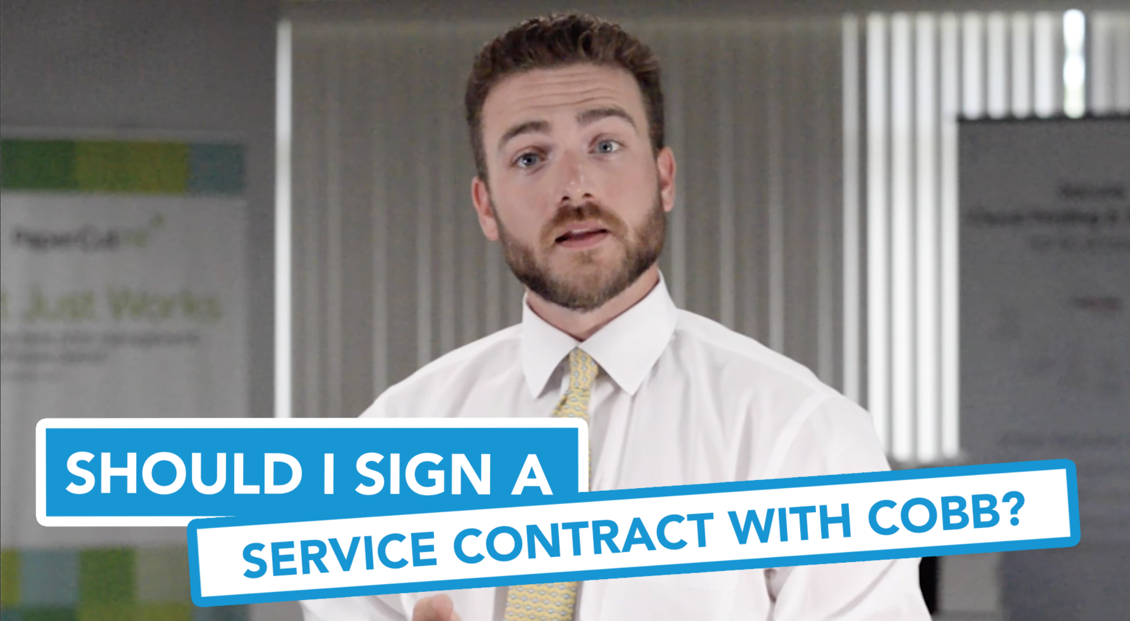 Should I Sign a Service Contract With Cobb?