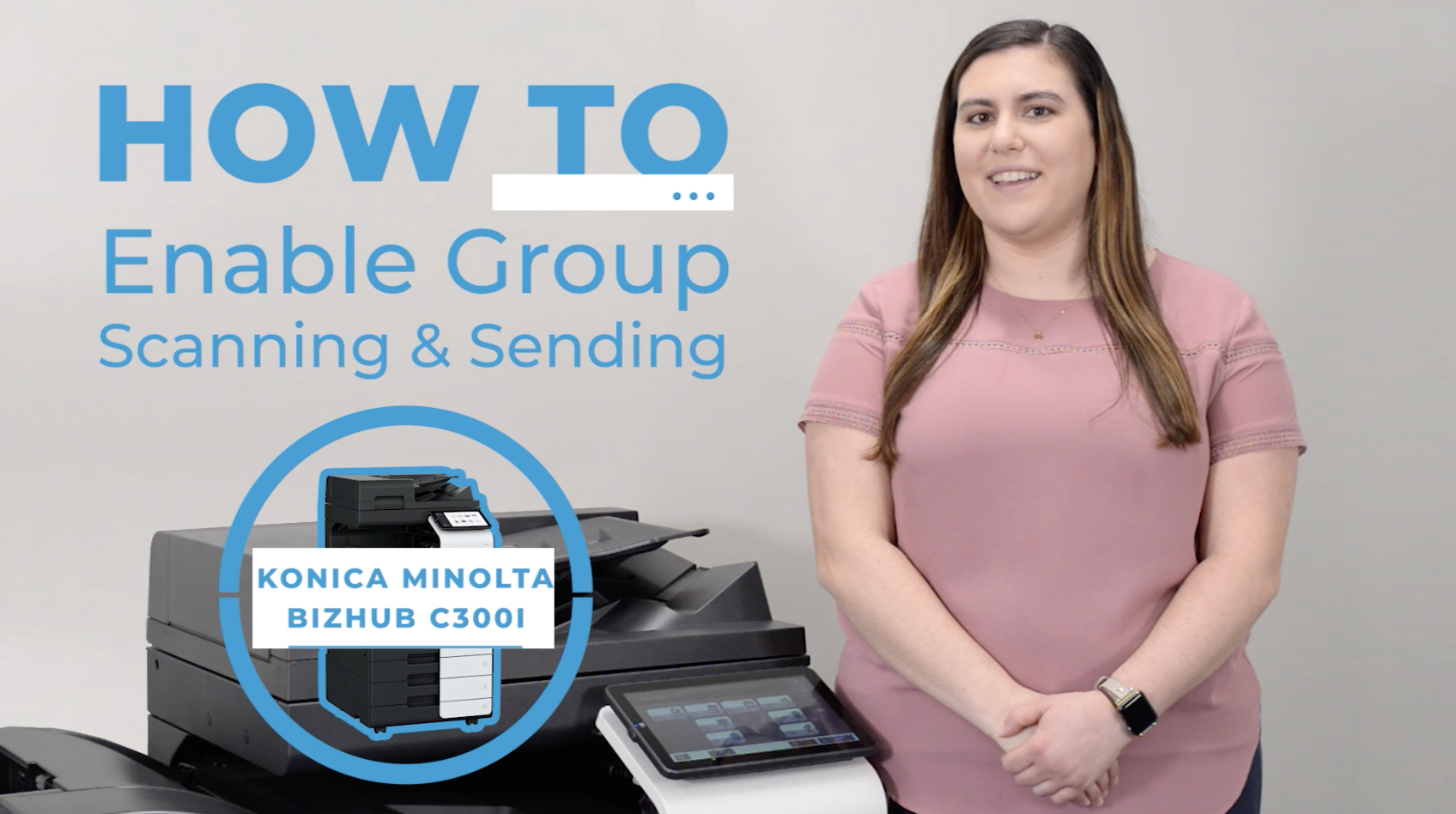 How to Enable Group Scanning and Sending