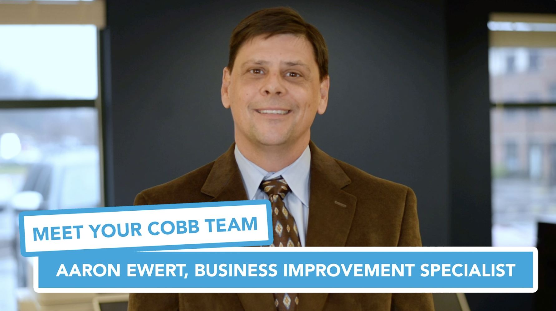 Meet Your Cobb Team: Aaron Ewert, Business Improvement Specialist