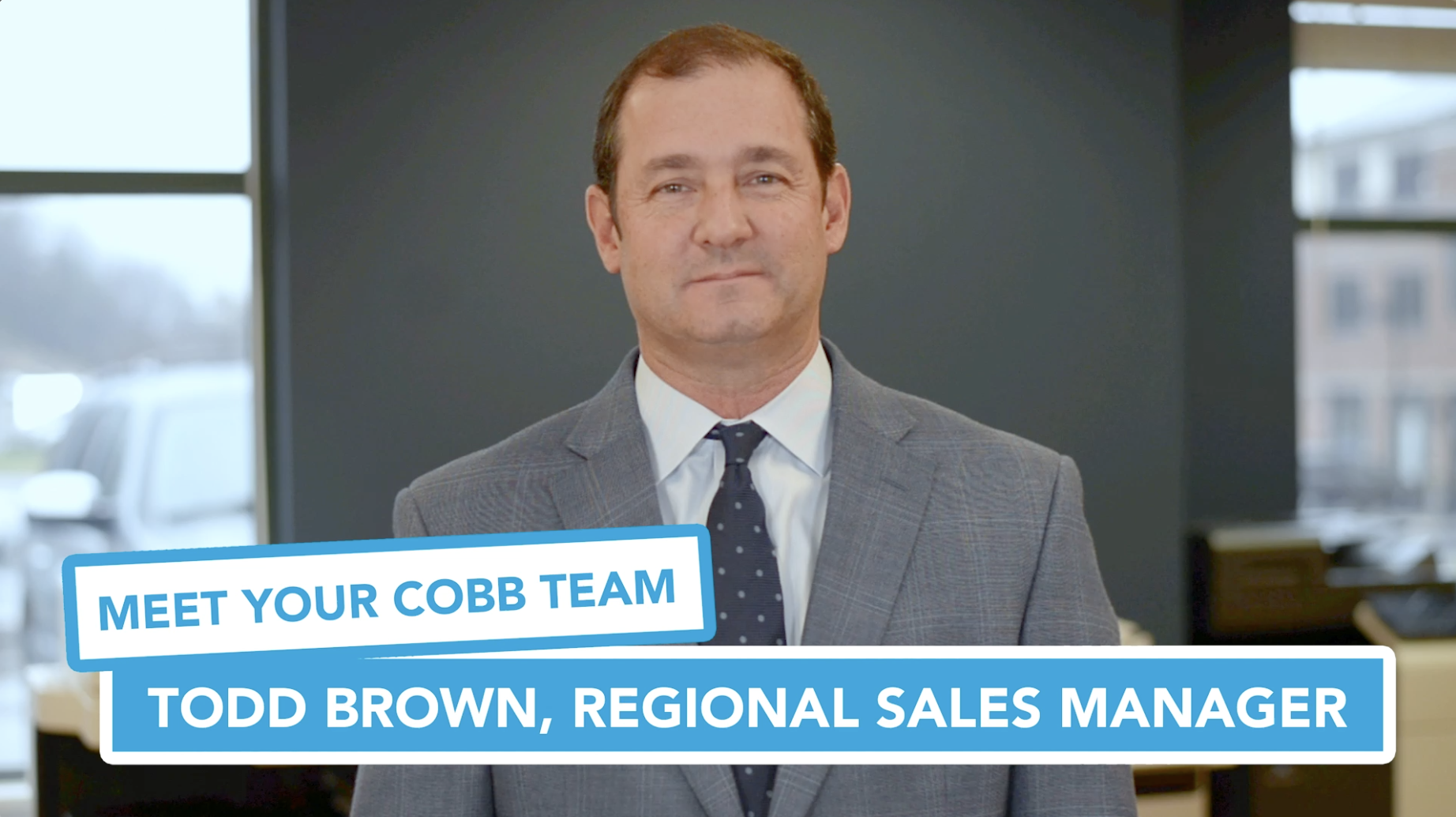 Meet Your Cobb Team: Todd Brown, Regional Sales Manager